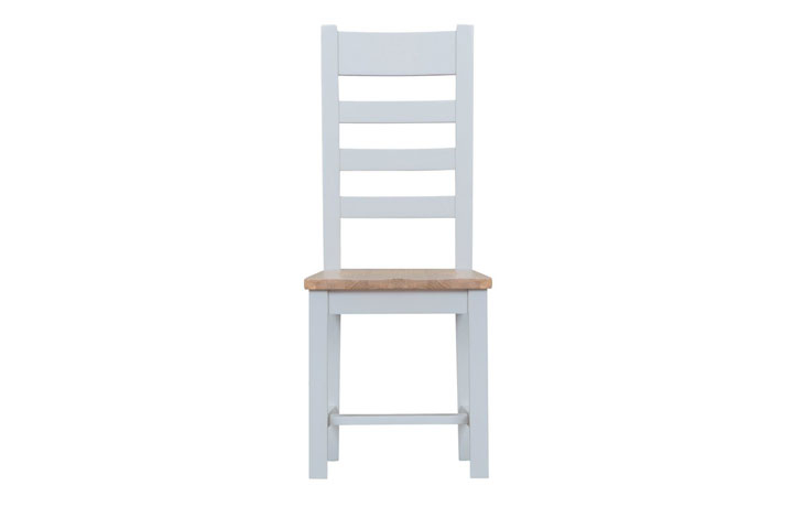Regency Grey Painted Collection - Regency Grey Painted Ladder Back Chair Wooden Seat