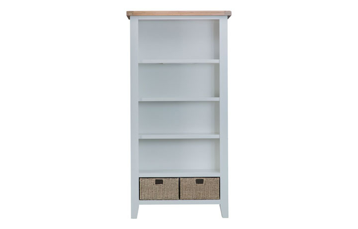 Bookcases - Regency Grey Painted Large Bookcase