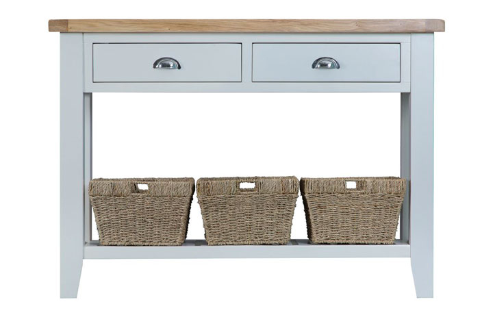 Consoles - Regency Grey Painted Large Console Table