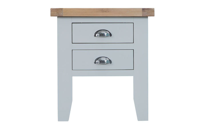 Regency Grey Painted Collection - Regency Grey Painted Lamp Table With 2 Drawers