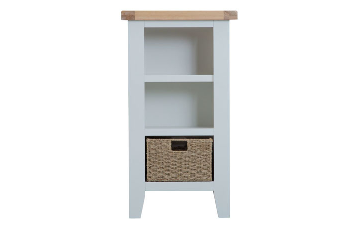 Regency Grey Painted Collection - Regency Grey Painted Small Narrow Bookcase