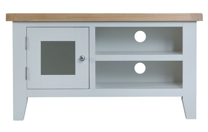 TV Cabinets - Regency Grey Painted Standard TV Unit