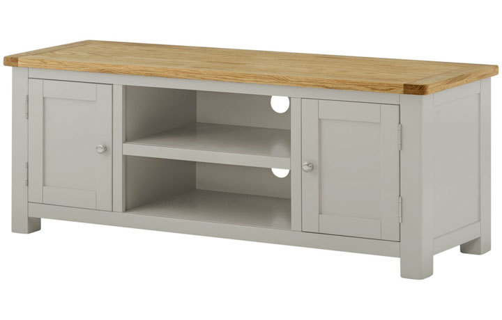 TV Cabinets - Pembroke Stone Painted Large TV Cabinet