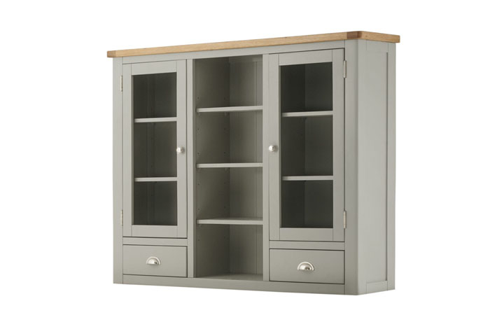 Dresser Tops & Larder Units - Pembroke Stone Painted Glazed Dresser Top