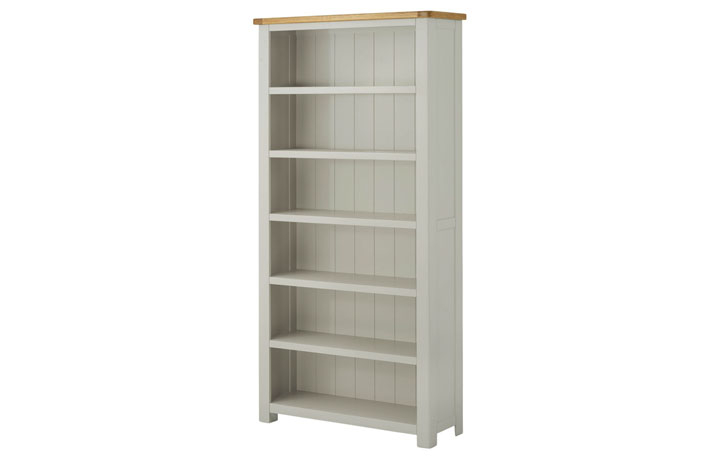 Bookcases - Pembroke Stone Painted Large Bookcase