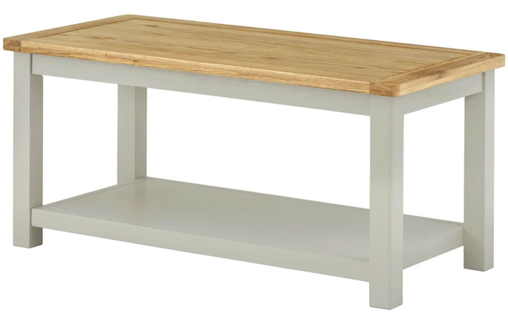 Coffee Tables - Pembroke Stone Painted Coffee Table