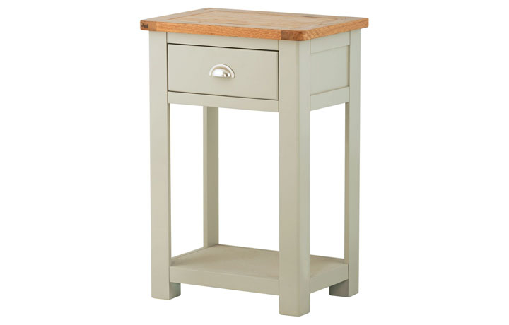 Consoles - Pembroke Stone Painted 1 Drawer Console Table