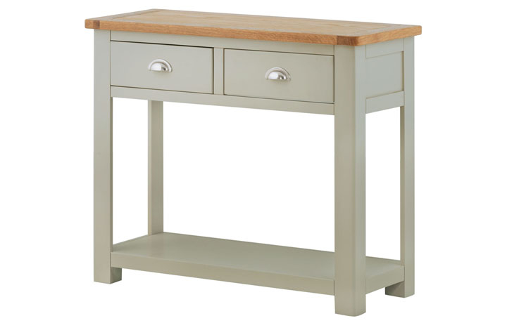 Consoles - Pembroke Stone Painted 2 Drawer Console Table