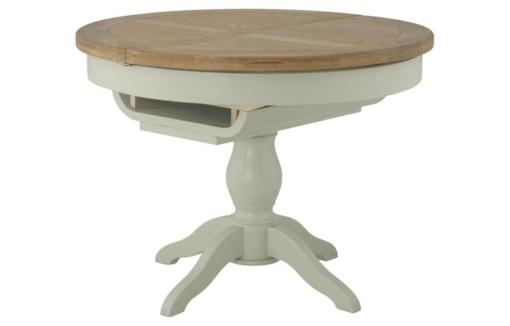 Dining Tables - Pembroke Stone Painted Round Butterfly Extending Dining Table