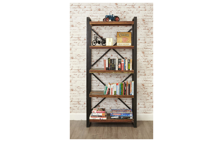 Bookcases - Mali Reclaimed Pine Large Open Bookcase