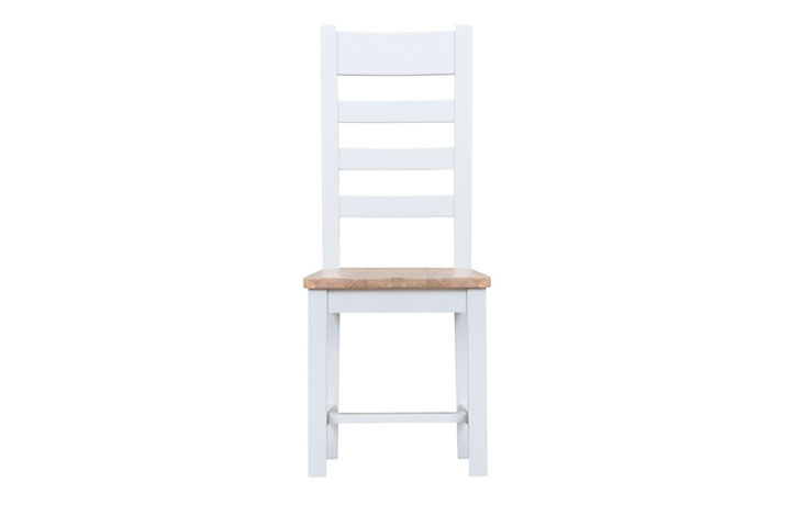 Regency White Painted Collection - Regency White Painted Ladder Back Chair Wooden Seat