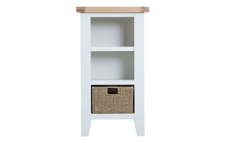 Regency White Painted Collection - Regency White Painted Small Narrow Bookcase