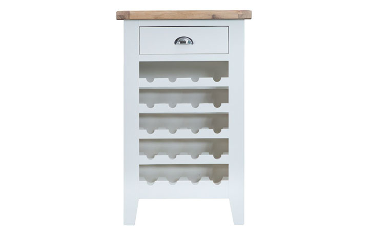 Regency White Painted Collection - Regency White Painted Wine Cabinet