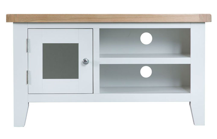 Regency White Painted Collection - Regency White Painted Standard TV Unit