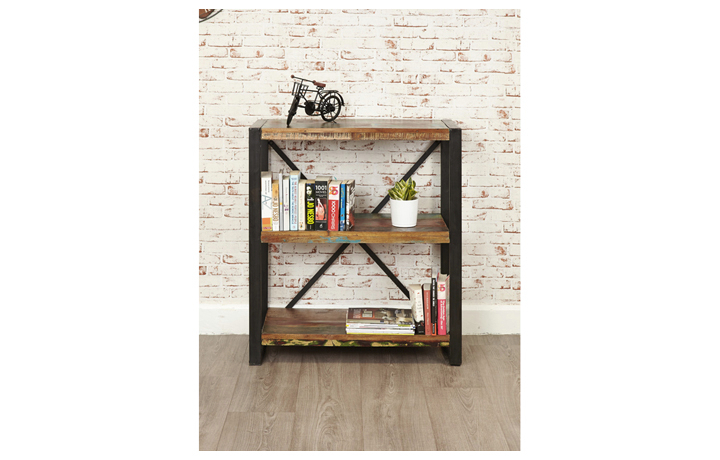 Bookcases - Mali Reclaimed Pine Low Bookcase
