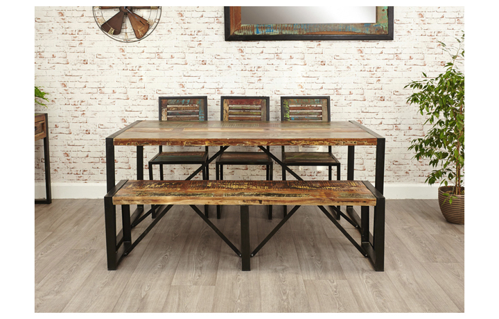 Dining Tables - Mali Reclaimed Pine Dining Table Large
