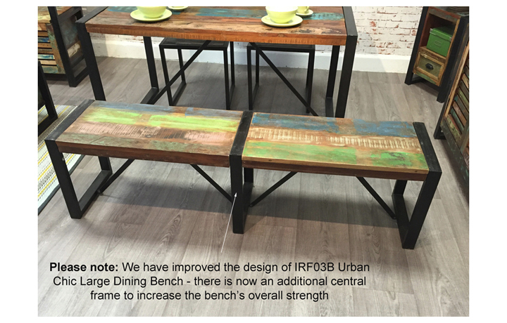 Benches - Mali Reclaimed Pine Large Dining Bench