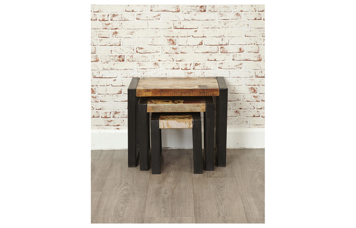 Nested Tables - Mali Reclaimed Pine Nest Of 3 Tables