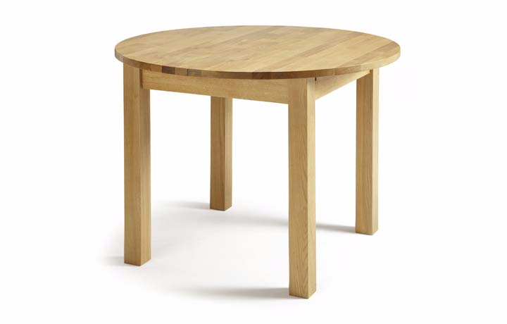Dining Tables - Kensington Solid Oak Round Extending Dining Table