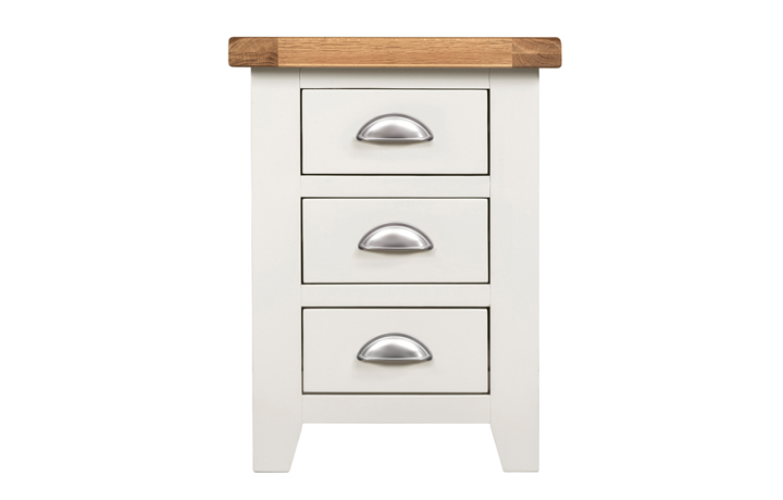 Wexford White Painted Range - Wexford White Painted 3 Drawer Bedside