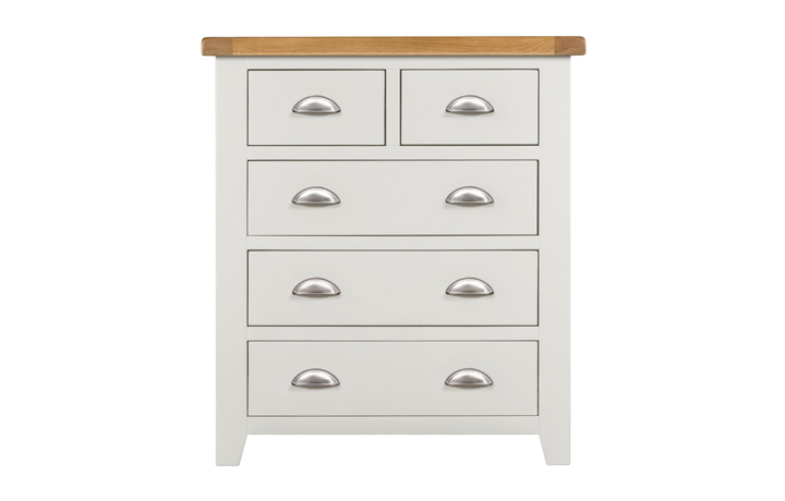Chest Of Drawers - Eden Ivory Painted 2 Over 3 Chest Of Drawers