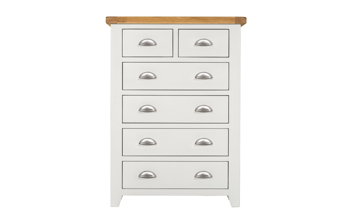 Wexford White Painted Range - Wexford White Painted 2 Over 4 Chest Of Drawers