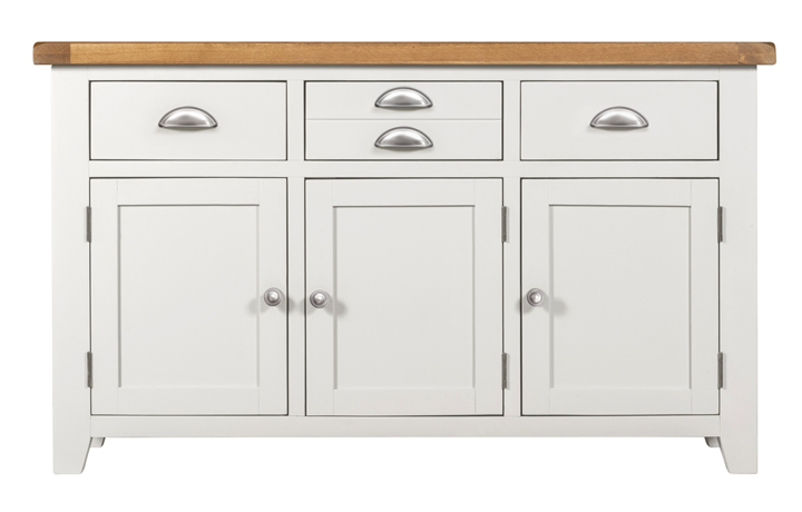 Wexford White Painted Range - Wexford White Painted 3 Doors 3 Drawers Sideboard