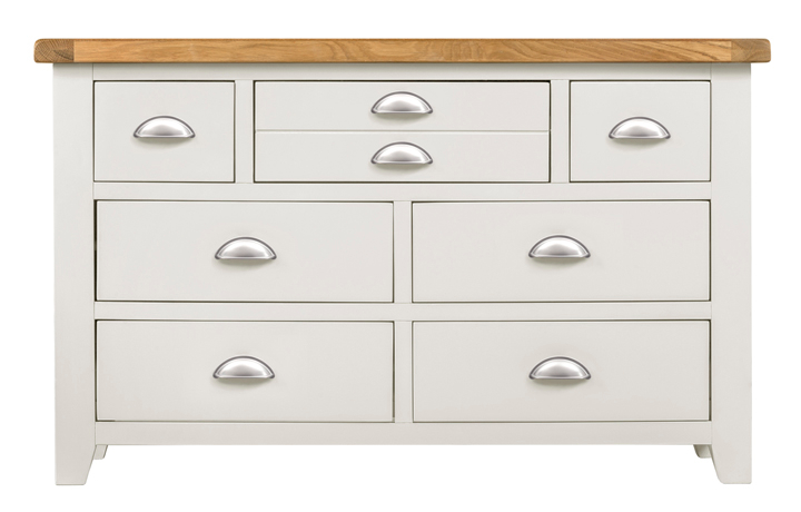 Wexford White Painted Range - Wexford White Painted 3 Over 4 Chest Of Drawers