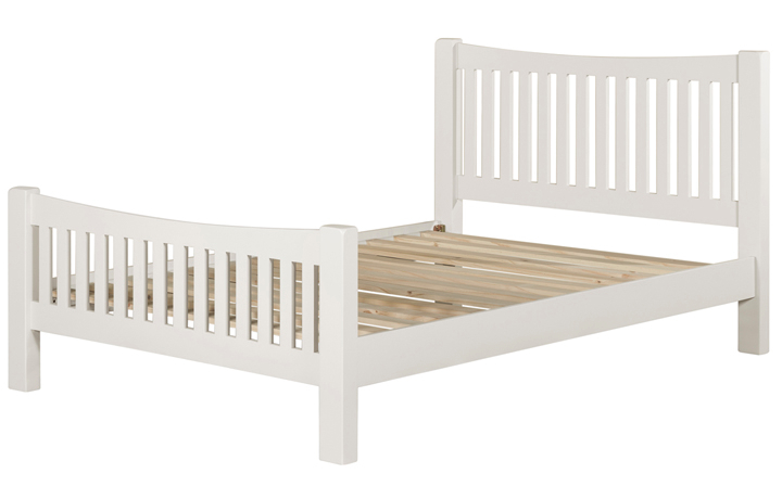 Bed Frames - 4ft6in Wexford White Painted Double Bed Frame