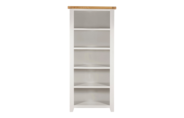Wexford White Painted Range - Wexford White Painted Large Open Bookcase