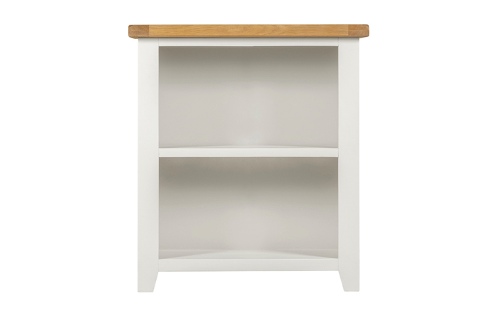 bookcases - Wexford White Painted Low Open Bookcase