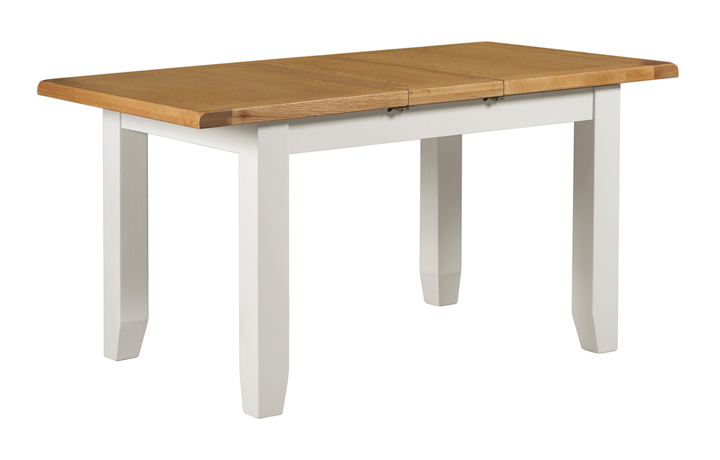 Dining Tables - Eden White Painted Small Extending Dining Table