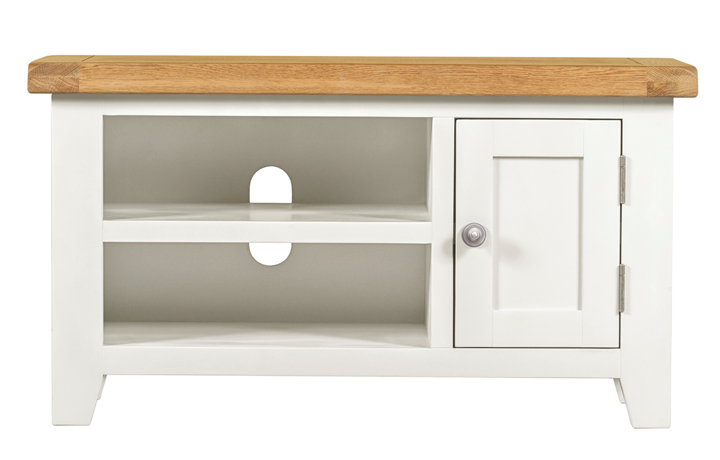 TV Cabinets - Eden Ivory Painted Small TV Unit