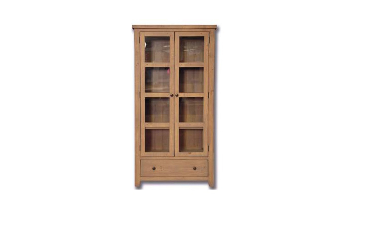 Display Cabinets - Dunwich Reclaimed Pine Glazed Display Cabinet