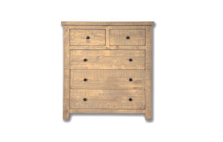 Chest Of Drawers - Dunwich Reclaimed Pine 2 Over 3 Chest Of Drawers