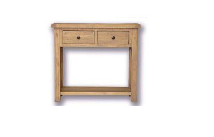 consoles - Dunwich Reclaimed Pine 2 Drawer Console Table