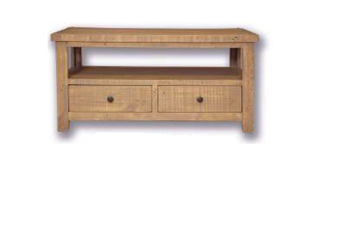 Dunwich Reclaimed Pine Range - Dunwich Reclaimed Pine Coffee Table/TV Table With 2 Drawers