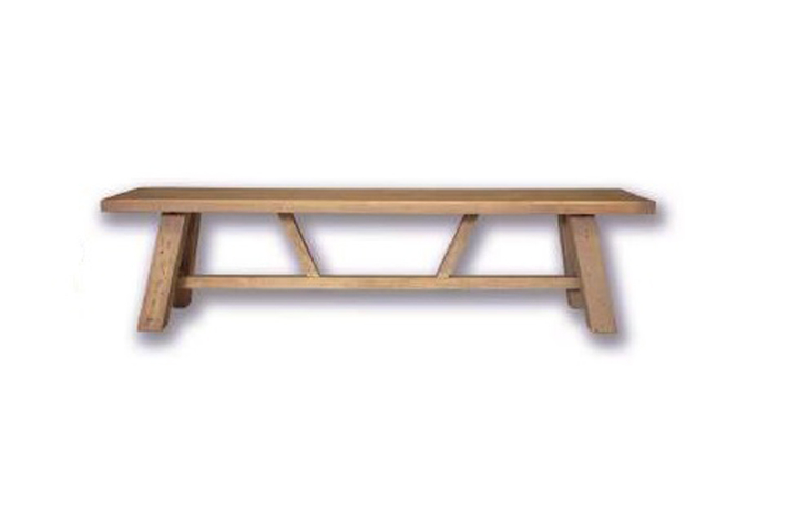 benches - Dunwich Reclaimed Pine Small Trestle Bench