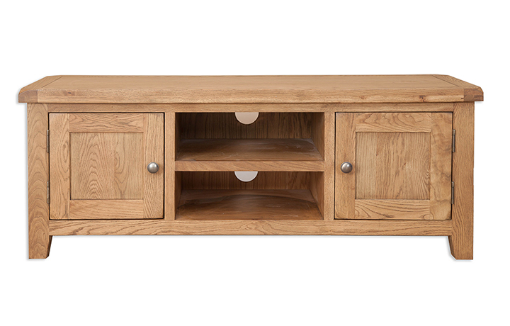 TV Cabinets - Windsor Rustic Oak Plasma TV Cabinet