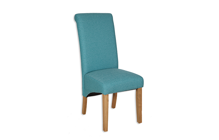 Chairs & Bar Stools - Chandley Aqua Upholstered Chair