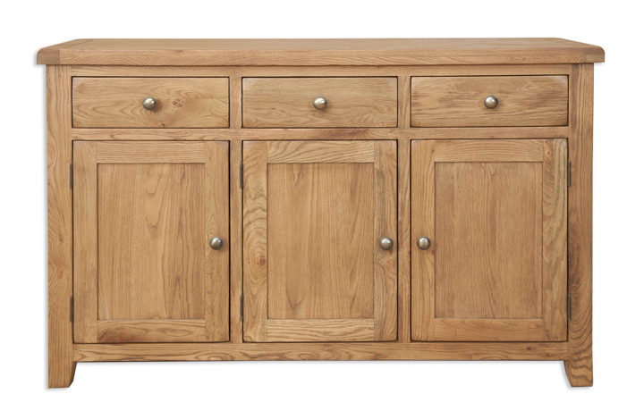 Windsor Rustic Oak - Windsor Rustic Oak 3 Door Sideboard