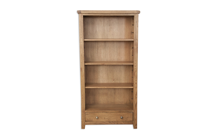 Bookcases - Windsor Rustic Oak Large Bookcase