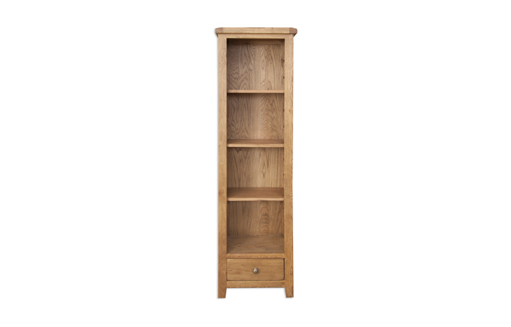Bookcases - Windsor Rustic Oak Slim Bookcase