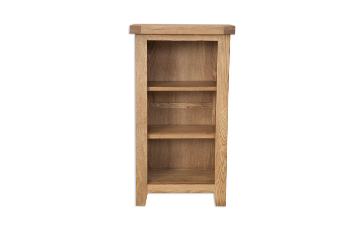 bookcases - Windsor Rustic Oak Small Bookcase/DVD Rack