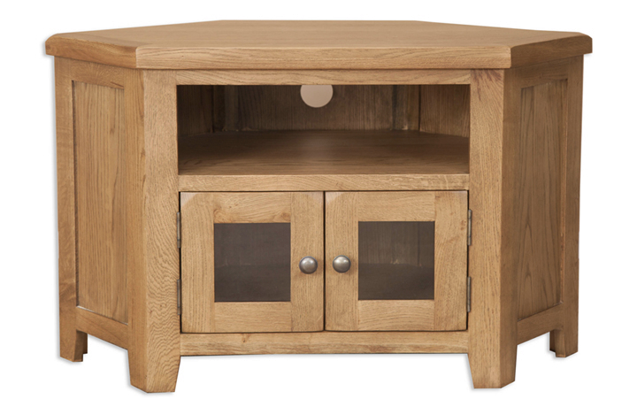TV Cabinets - Windsor Rustic Oak Glazed TV Cabinet
