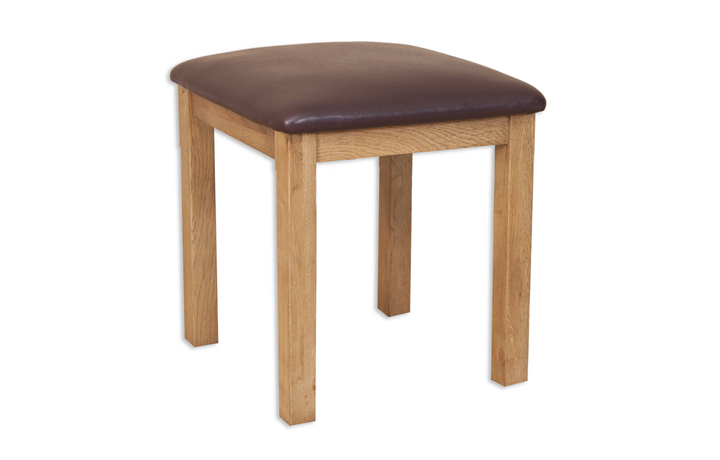 Windsor Rustic Oak - Windsor Rustic Oak Dressing Stool