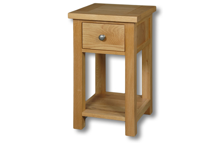 Suffolk Solid Oak Furniture Range - Suffolk Solid Oak 1 Drawer Lamp Table
