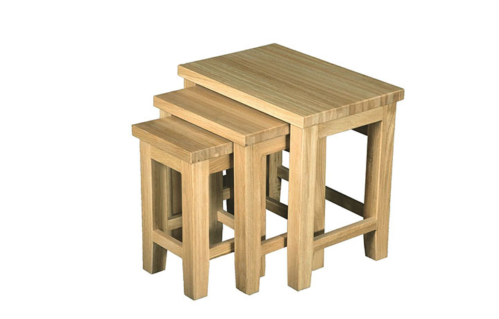 Suffolk Solid Oak Furniture Range - Suffolk Solid Oak Nest of 3 Tables