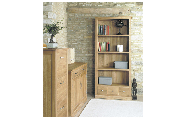 Pacific Oak Furniture Range (Web Exclusive) - Pacific Oak Large 3 Drawer Bookcase