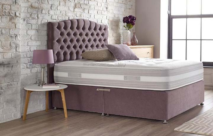 5ft-king-size-mattress-and-divan-bases - 5ft King Size Assenza Space 1000 Mattress With Front Opening Ottoman Base